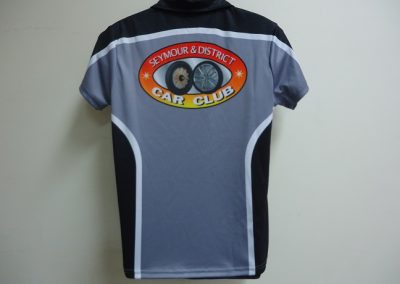 Sublimated polo back