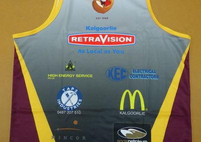 Sublimated singlet back