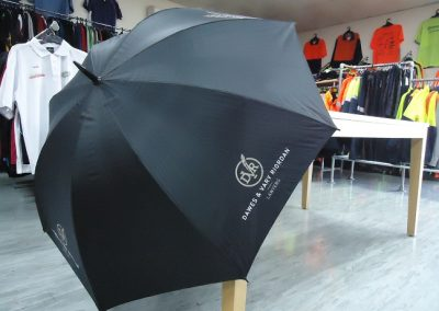 Umbrella screen printed