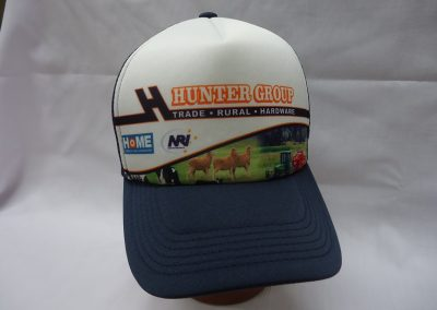 Custom made sublimated trucker hat