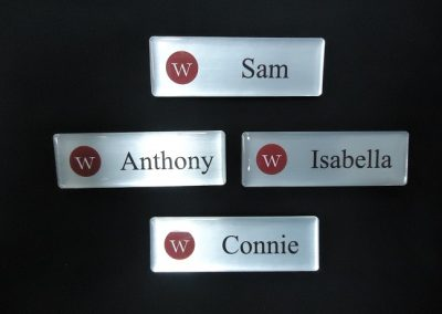 Domed name badge