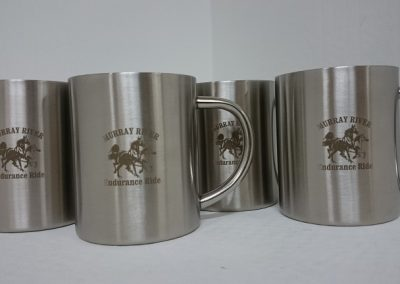 Laser engraved mug
