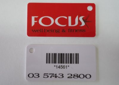 Membership tag with barcode