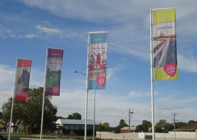 Nagambie street banners 1