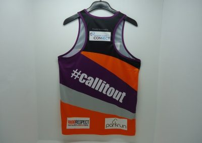 Racer back sublimated singlet