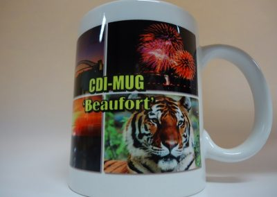 Sublimated coffee mugs