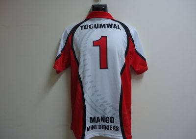 Sublimated cricket shirt