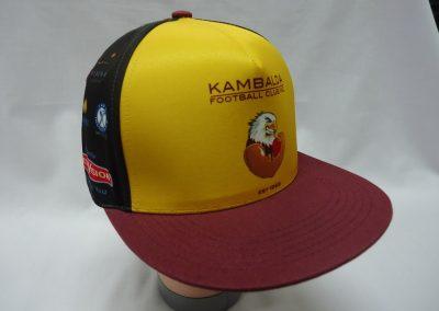 Sublimated flat peak trucker hat