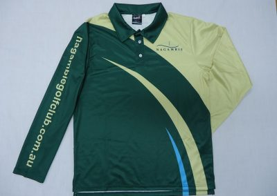 Sublimated longsleeve polo