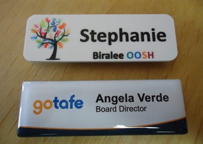 Name badges Domed & undomed