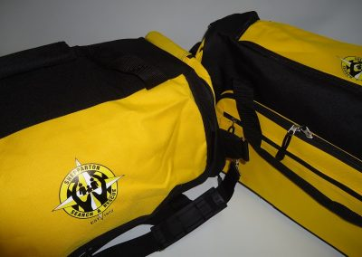 Transfer on sports bag