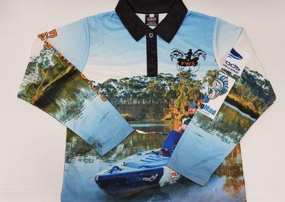 Sublimated fishing shirt