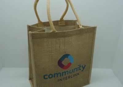 Jute bag screen printed