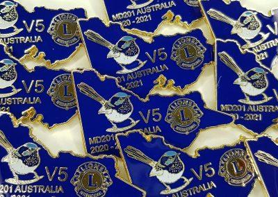 Large custom pin